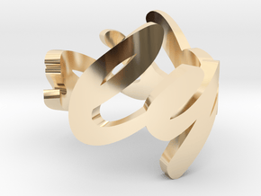 Lydia Ring in 14k Gold Plated Brass