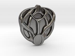 Mon Mothma's Brooch - small in Polished Nickel Steel