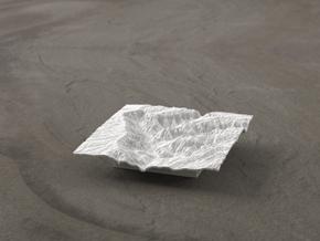 3'' Waimea Canyon Terrain, Hawaii, USA in White Natural Versatile Plastic