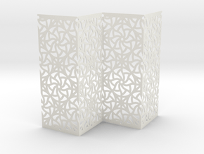 Screen Curved Star Pattern  in White Natural Versatile Plastic