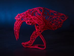 Saber Tooth Wire  in Red Processed Versatile Plastic