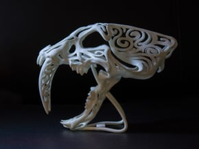Saber Tooth Stylised in White Processed Versatile Plastic