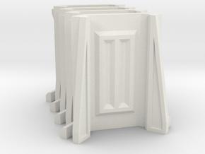Sci-Fi Barrier / Wall / Corridor Corner (Set x4) in White Natural Versatile Plastic