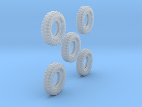1-64 Tire 1200x20 5 Units in Smooth Fine Detail Plastic