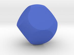 Blank D8 Sphere Dice in Blue Processed Versatile Plastic