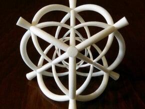 Vertex centered 24-Cell  in White Natural Versatile Plastic