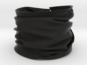 Drape Bracelet in Black Natural Versatile Plastic