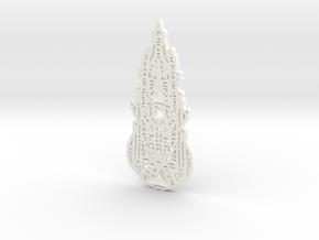micro 6 in White Processed Versatile Plastic