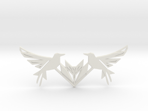 Swallow Collar Necklace in White Natural Versatile Plastic: Small