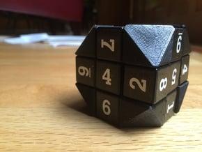 (1/8) Truncated Magic Cube Corners (Order 8) in White Natural Versatile Plastic