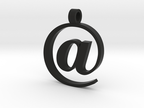 At Logo Pendant or keychain in Black Natural Versatile Plastic