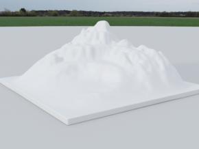 Mountain Landscape 1 in White Natural Versatile Plastic