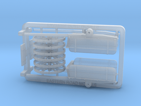 HO Scale Dump Cart X 2 in Smooth Fine Detail Plastic