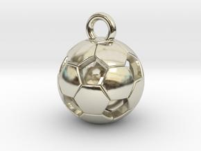 SOCCER BALL D in 14k White Gold