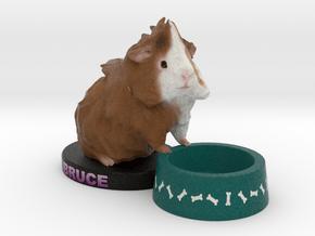 Custom Guinea Pig Figurine - Bruce in Full Color Sandstone