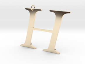 H in 14K Yellow Gold