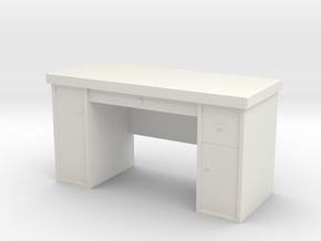 1:35 Scale Desk  in White Natural Versatile Plastic