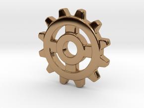 One Inch Eight Normal Spoke Gear in Polished Brass