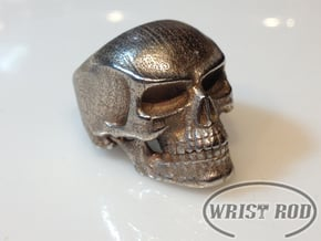 WR Ring FullSkull - Size 11 in Polished Bronzed Silver Steel