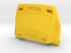 Streaker Chest Plate in Yellow Processed Versatile Plastic