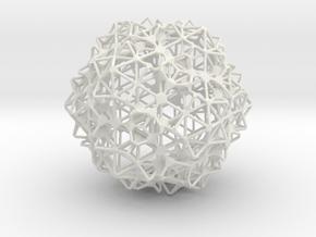 Sphere3 in White Natural Versatile Plastic