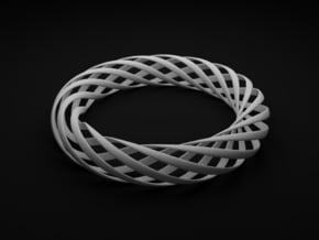Spiral Style Bracelet  in White Processed Versatile Plastic