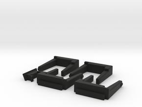 4 Module 1 Side in Black Natural Versatile Plastic