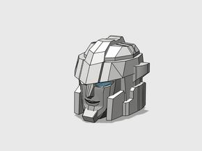 Blocky Driller's Head in Smooth Fine Detail Plastic