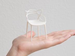 Masters Chair Miniature 1:12 in White Natural Versatile Plastic