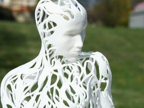 Kneeling Woman in White Natural Versatile Plastic
