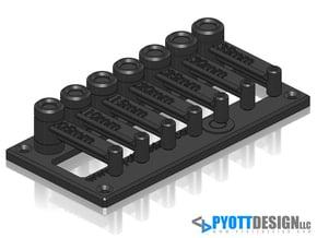 Tool Hinge - 4mm pin diameter, .05-.35mm @ .05mm s in White Natural Versatile Plastic