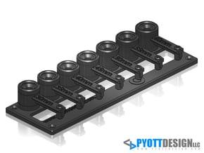 Tool Hinge - 8mm pin diameter, .30-.60mm @ .05mm s in White Natural Versatile Plastic