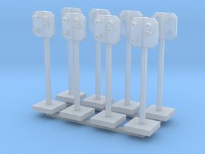 8 Stück: SBB Vorsignal Spur Z (1:220) in Smoothest Fine Detail Plastic