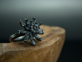 anemone in Polished Silver