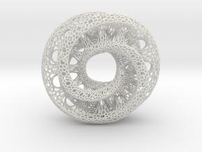 Mobius Tori in White Natural Versatile Plastic