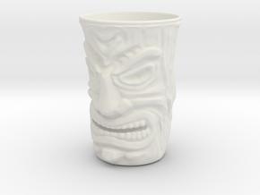 Tiki ShotGlass 40year birthday gift in White Natural Versatile Plastic