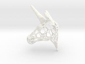 Unicorn Trophy Voronoi (100mm) in White Processed Versatile Plastic