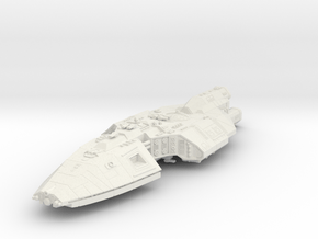 Heron spaceship in White Natural Versatile Plastic