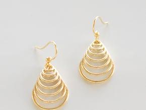 Teardrop Earrings in Polished Brass