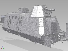 HO G-Wagen Armored Train BP-42 in Polished Bronzed Silver Steel