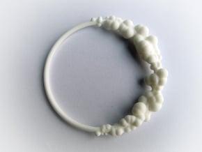 Cloud Bracelet in White Natural Versatile Plastic