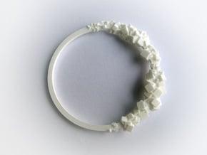 Rock Bracelet  in White Natural Versatile Plastic