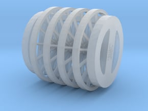 54in 14 Spoke 1/35 Scale X4 in Smooth Fine Detail Plastic