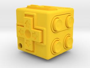 JoyCube in Yellow Processed Versatile Plastic