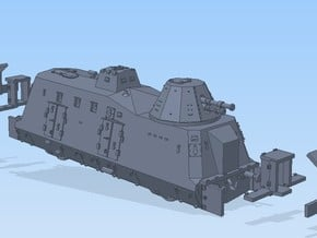 N 1-160 G-Wagen Armored Train BP-42 in Smooth Fine Detail Plastic