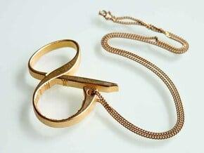 """Ampersand"", Opener in Polished Gold Steel"