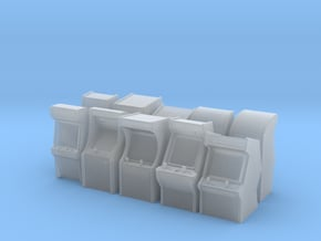 HO Scale Arcade Machines in Smooth Fine Detail Plastic