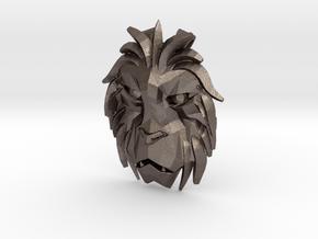 Lion Trinket in Polished Bronzed Silver Steel