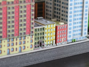 New York Set 1 Houses of 1 x 2 set of 3 in Full Color Sandstone