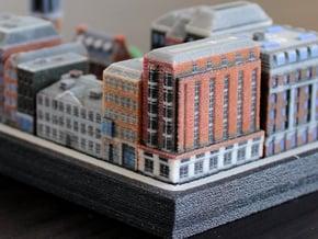 Amsterdam Three Buildings  in Full Color Sandstone